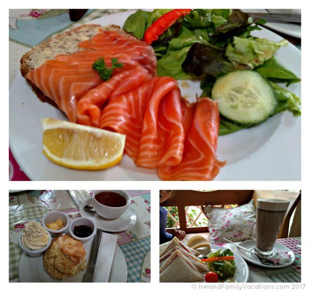 Lunch at Glenarm Castle Tea Rooms along Northern Ireland's Causeway Coastal Route. Ireland travel tips | Ireland vacation | IrelandFamilyVacations.com
