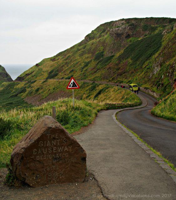 Giant's Causeway, just ahead. Ireland travel tips | Ireland vacation | IrelandFamilyVacations.com