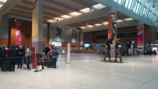 Departures area at Shannon Airport. Shannon Airport tips. Ireland Family Vacations   Ireland vacation tips