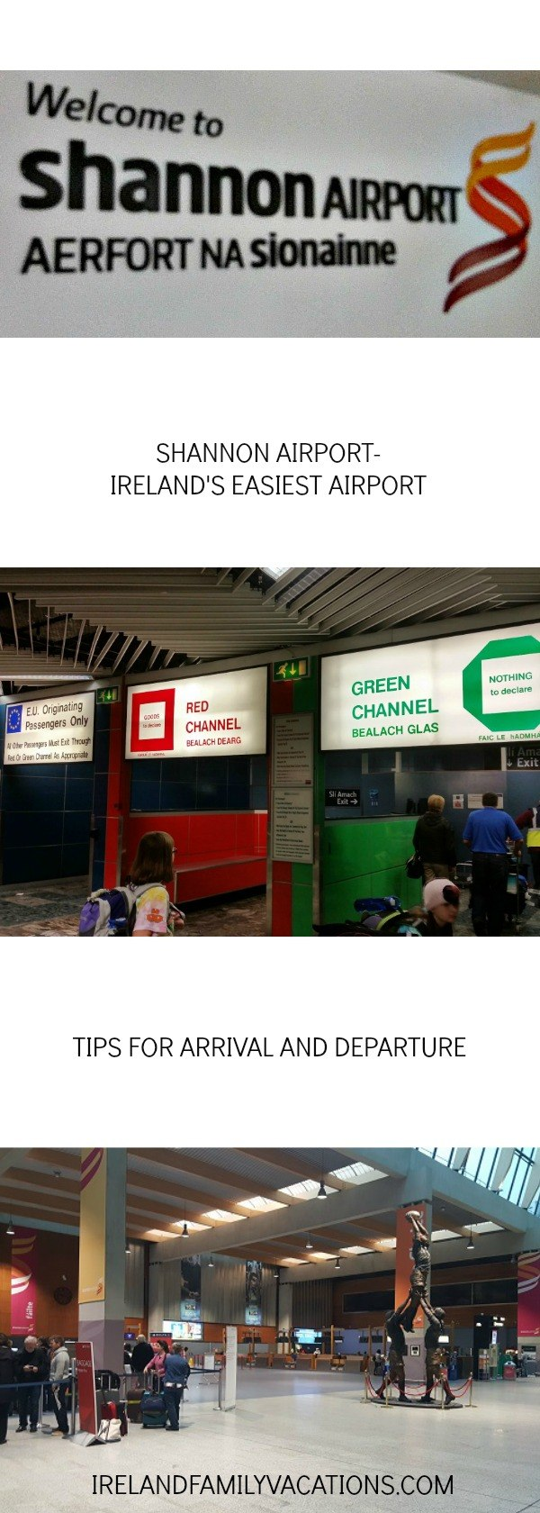 handy tips for Shannon Airport Arrivals and Departures. Ireland travel tips   Ireland vacation   IrelandFamilyVacations.com