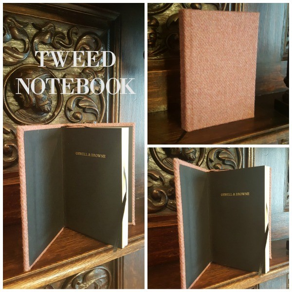 Great gifts from Ireland - Tweed Notebook by Orwell & Browne. Irish Gifts | Donegal Tweed