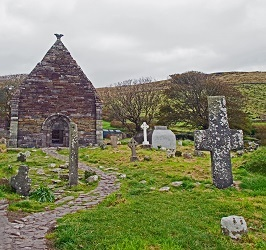 Kilmalkedar Churchyard on the Dingle Peninsula