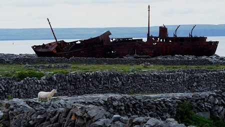 The Plassey- Famous Aran Islands Shipwreck on Inis Oirr