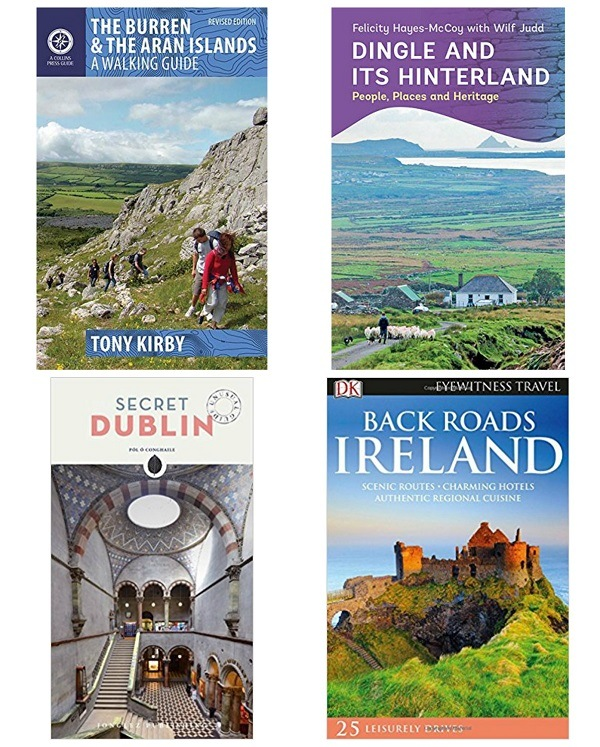 Ireland travel books on my shelf