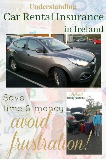 Understanding car rental insurance in Ireland - what you must know before renting a car for your Ireland vacation.