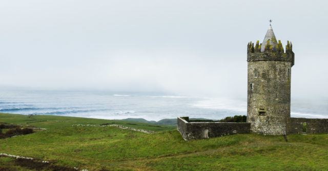 Doonagore Castle near Doolin, County Clare, Ireland