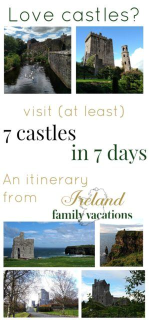 Ireland Castle itinerary