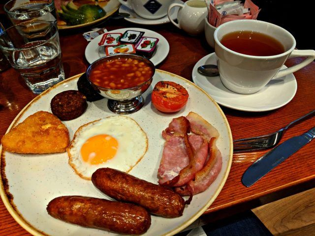 Irish Breakfast at Copper Alley Bistro, The Harding Hotel, Dublin, Ireland
