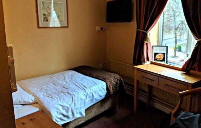 Single room at The Harding Hotel, Dublin, Ireland