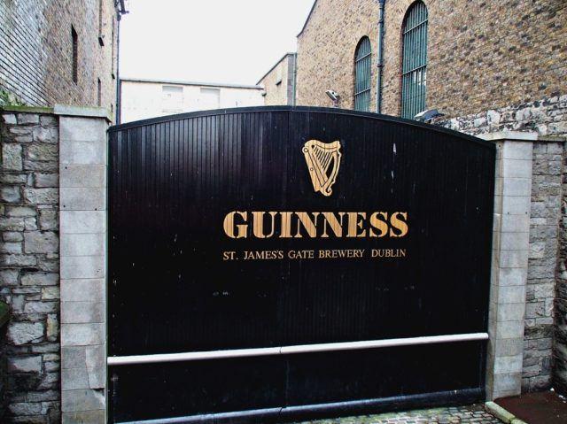 Guinness gate in Dublin, Ireland