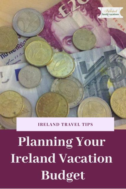create an Ireland vacation budget