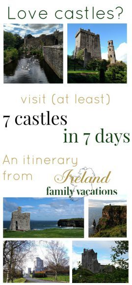 Free Ireland castle itinerary