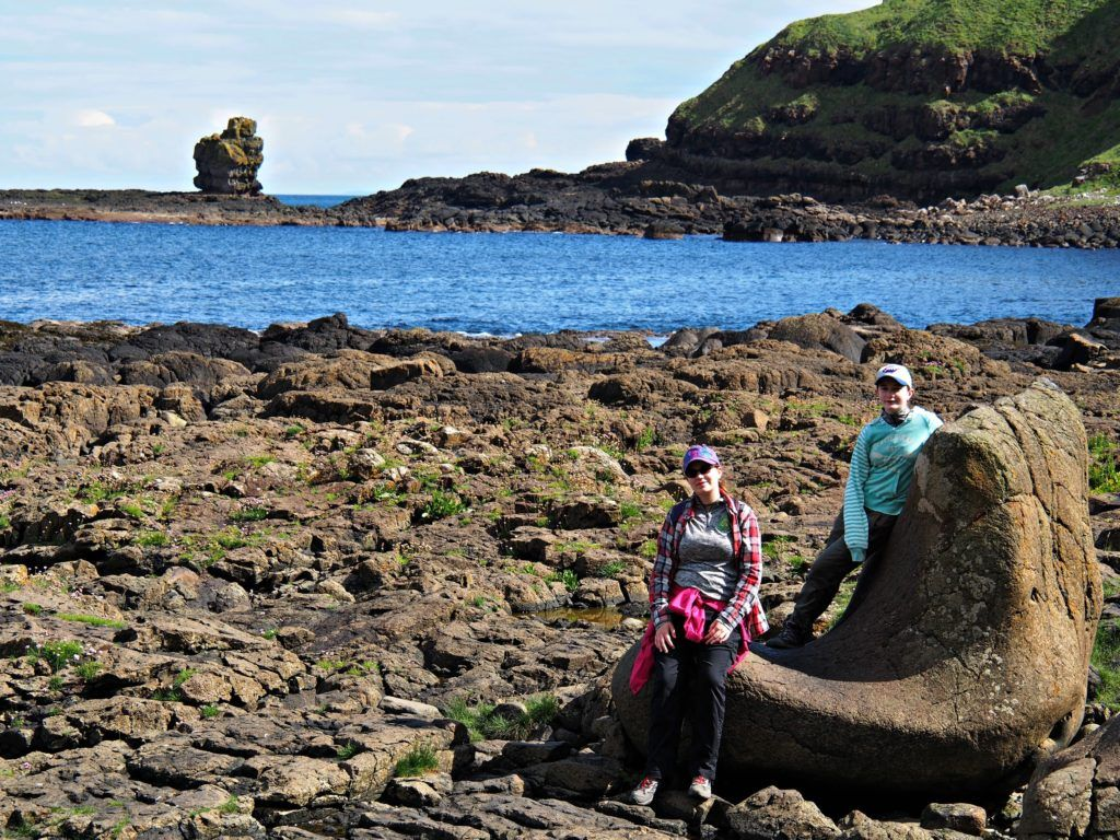 The Giant's Boot at the Giant's Causeway