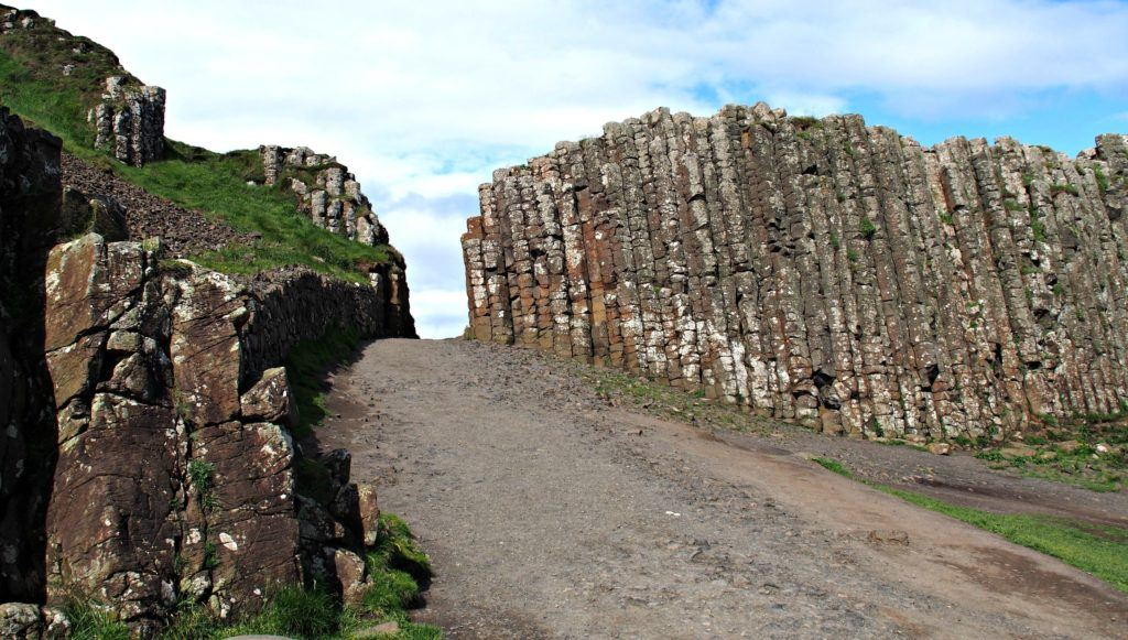 The Giant's Gate at Giant's Causeway, Northern Ireland