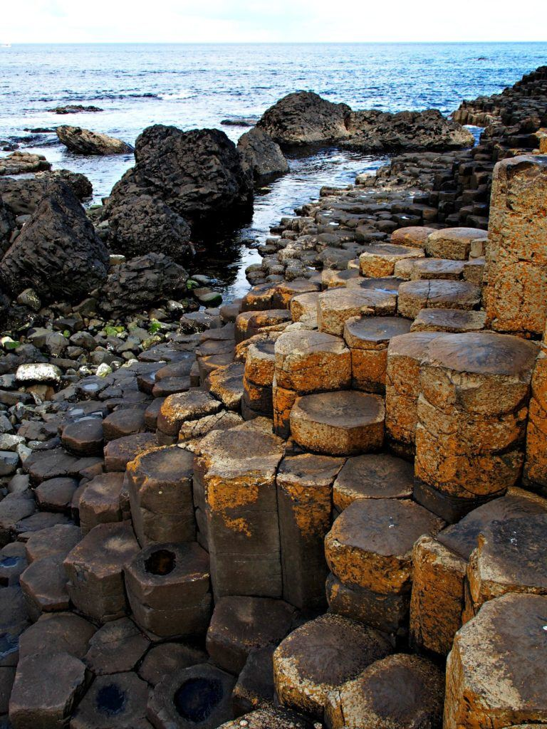 polygonal stones of the Giant's Causeway in Northern Ireland