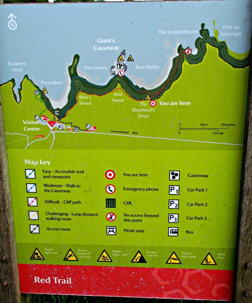 Walking and Hiking Trails at the Giant's Causeway, Northern Ireland