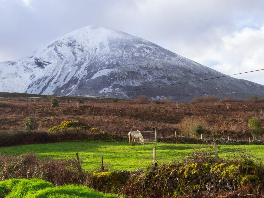Croagh Patrick, County Mayo, after a snow storm