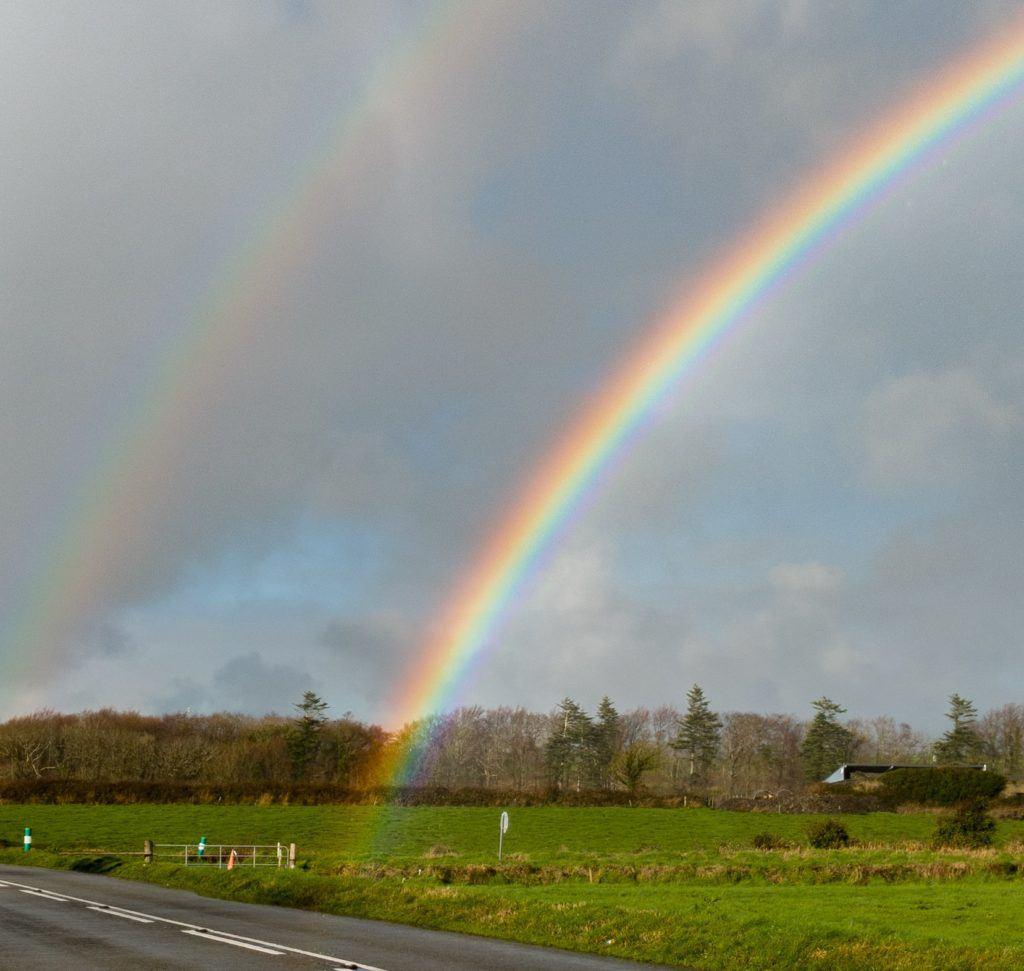 Bright rainbows in ireland