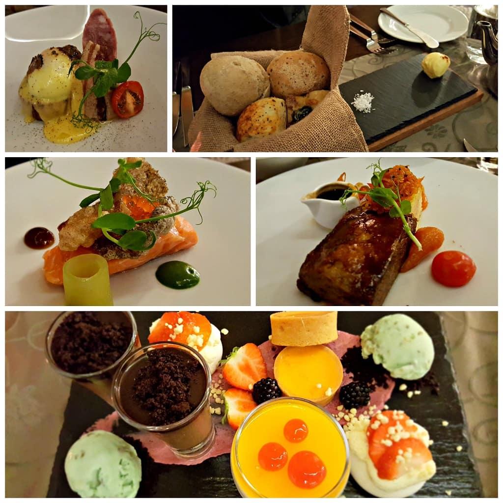 Selections at Cedars Restaurant, Lough Eske Castle, Donegal, Ireland