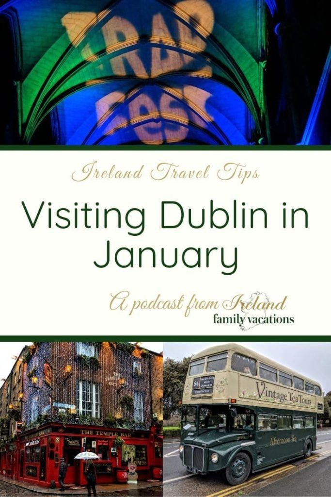 Dublin in January- Temple Bar TradFest, the Temple Bar, Vintage Tea Tours bus