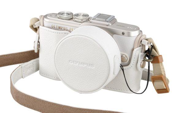Olympus PEN mirrorless camera in white