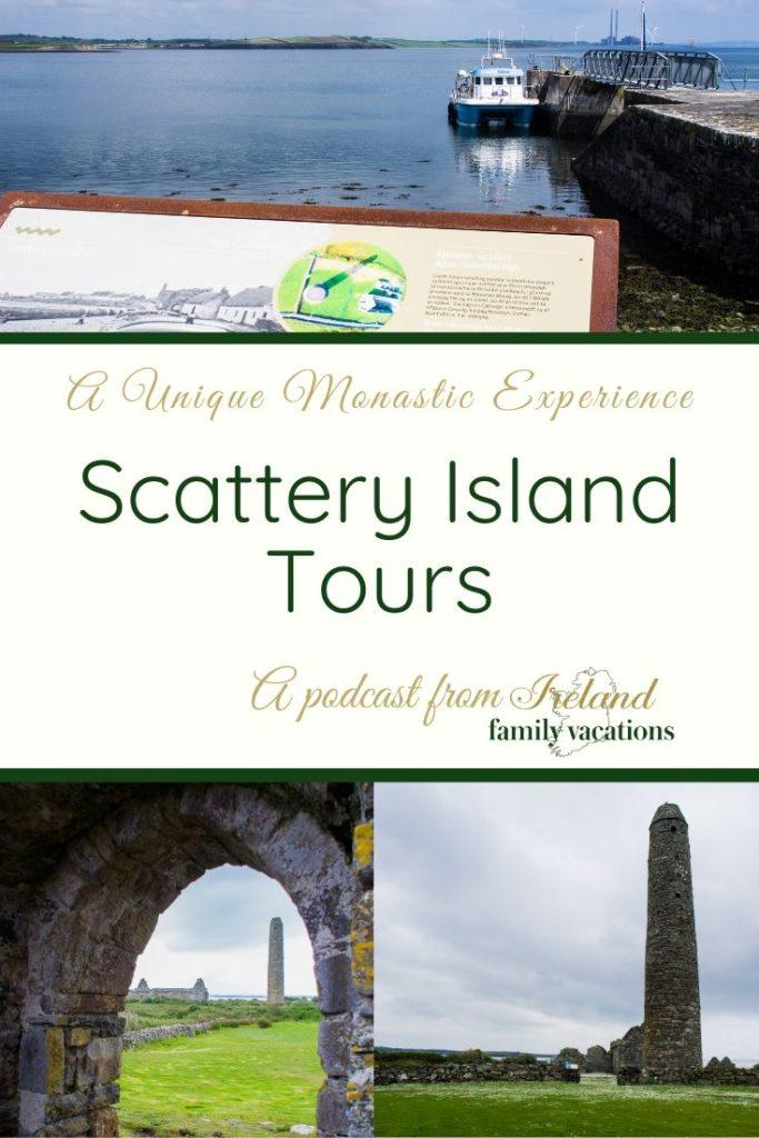 views of Scattery island, County Clare, Ireland