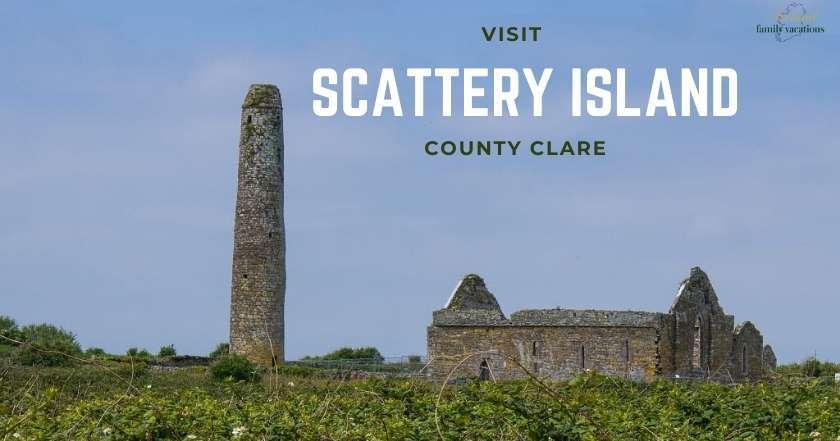 St Senan's Monastery on Scattery Island, County Clare, Ireland