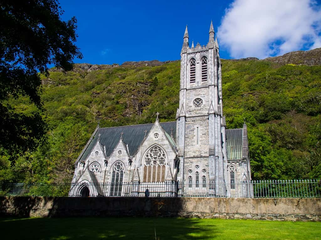 Neo-Gothic Church at Kylemore Abbey, County Galway, Ireland