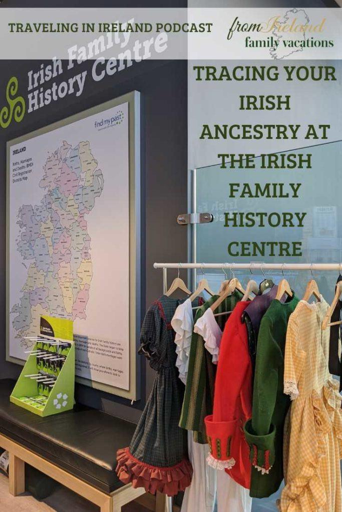at the Irish Family History Centre in Dublin, Ireland