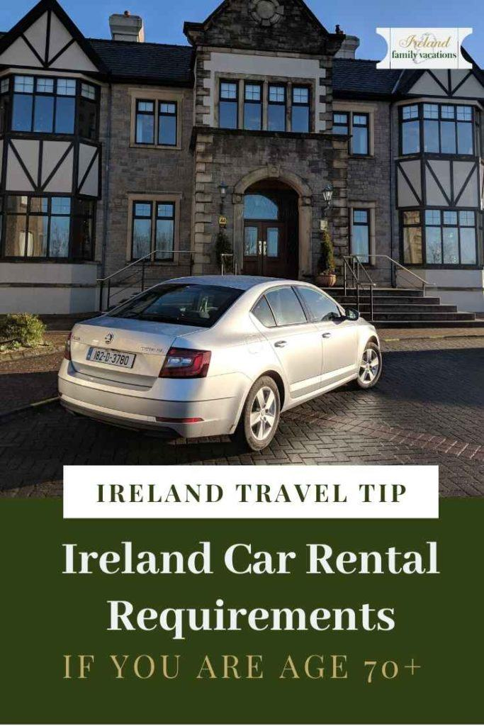 rental car at Knockranny House Hotel, Westport, Ireland