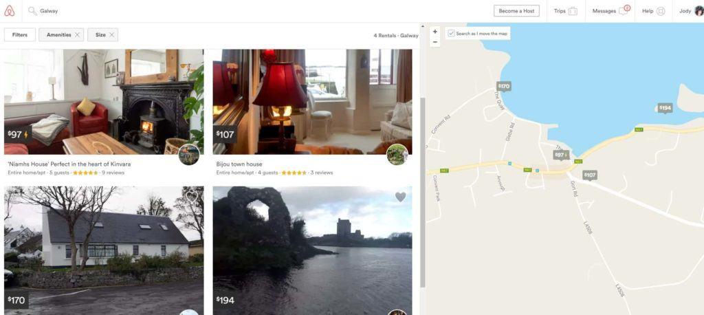 AirBnB booking in Kinvara, Galway, Ireland
