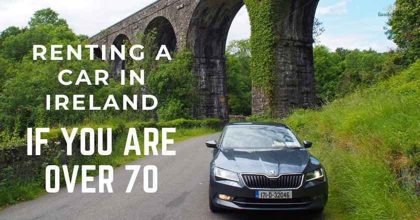 rental car at Durrow Viaduct, County Waterford, Ireland