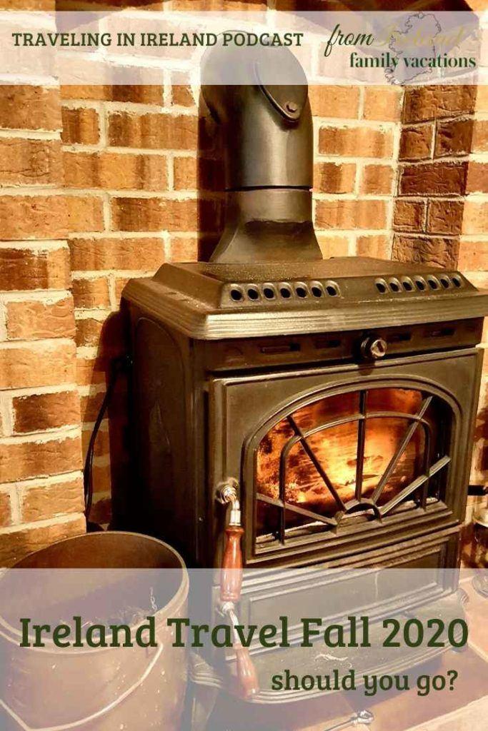 turf burning stove in Ireland