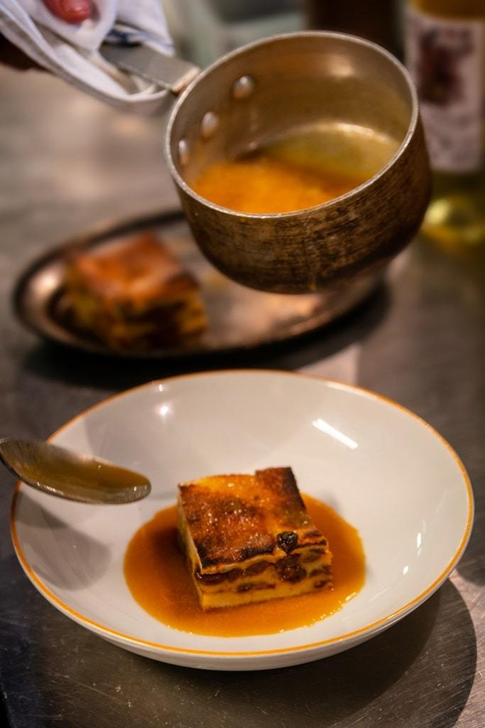 bread and butter pudding with whiskey sauce